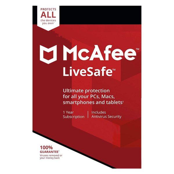 آنتی ویروس McAfee LiveSafe،خرید مکافی لایوسیف(LiveSafe)