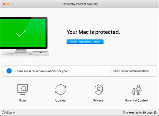 آنتی ویروس کسپرسکی اینترنت سکیوریتی برای مک