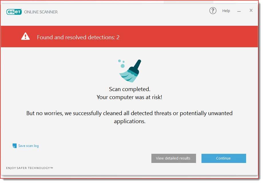 فایل های ویروسی و پاکسازی شده مشخص می شوند.