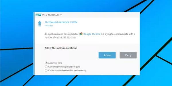 تصویر Outbound-network-traffic nدر بررسی Eset Internet Security