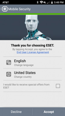 تصویرlanguage-setup در قابلیت های eset mobile security
