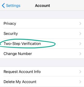 روی Two –step verification کلیک کنید.