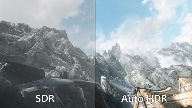 تصویری از تفاوت SDR و AUTO HDR